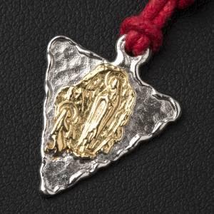 Médaille triangulaire Lourdes s2