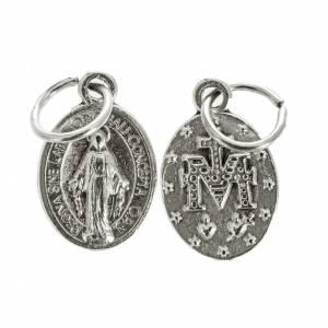 Medaillen: Medaille Wundertätige Madonna oval Silbermetall 12cm groß