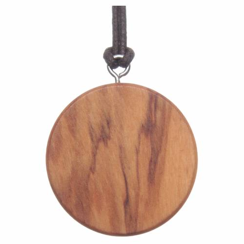 Medal with Jesus picture olive wood s2
