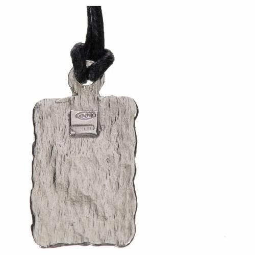 Medalla de Lourdes en plata 800, bicolor s2