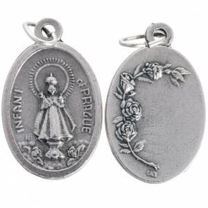 Medalla de Niño Jesús de Praga en metal ovalada 20 s1