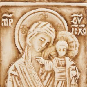 Colgantes Varios: Medalla de piedra de la Virgen con el Niño Belén