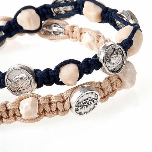 Medjugorje bracelet, cord, medal, stone s3