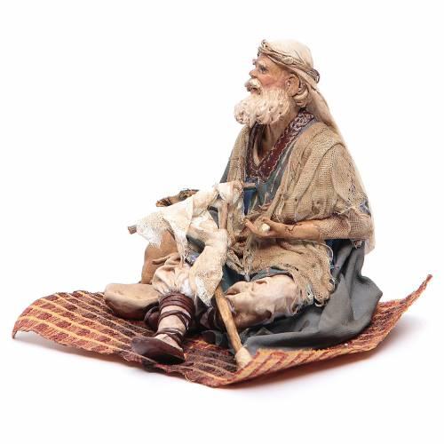 Mendicante storpio seduto 18 cm Angela Tripi s2