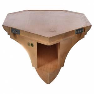 Mensola per angolo legno Valgardena s4
