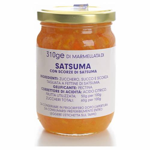 Mermelada satsuma (unshiu) 310gr Monasterio Carmelitas s1