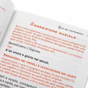 Lectionnaires et missels: messe pour les époux, couverture blanche, relief en or IT
