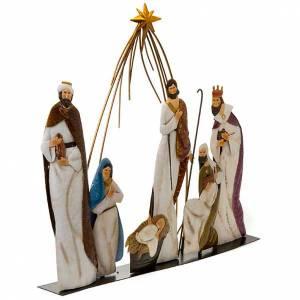 Stylized Nativity scene: Metal crib