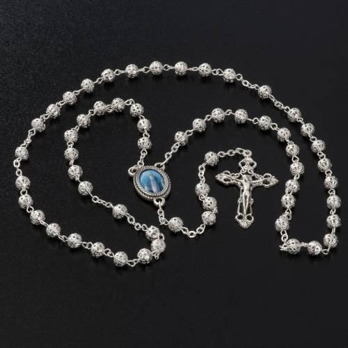 Metal filigree rosary 6 mm s6
