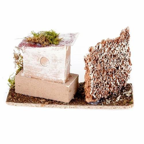 Milieu crèche maison et mur en liège s2
