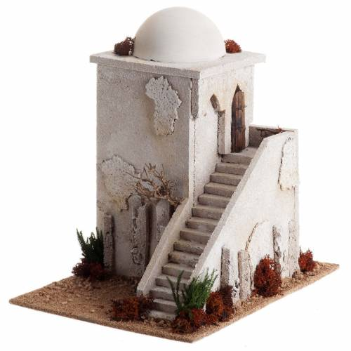 Minaret en miniature avec coupole, échelle pour crè s2