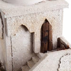 Minaret z kopułą i schodkami do szopki s6