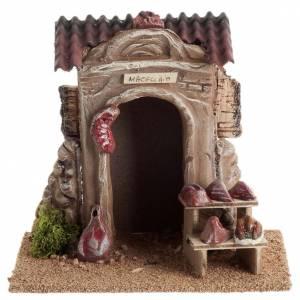 Maisons, milieux, ateliers, puits: Mini boucherie crèche Noel