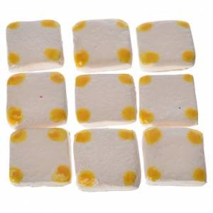 Mini-carreaux pois jaunes pour crèche 60 pcs terre cuite s1