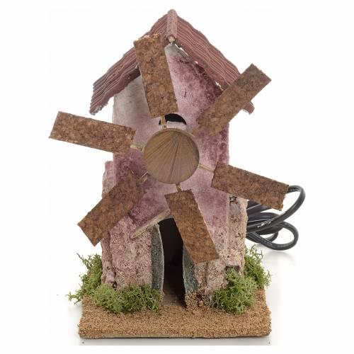 Mini moulin à vent électrique 18x10x10 cm s1