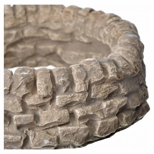 Mini mur rond en plâtre pour crèche diam 12cm h 3,5 cm s2