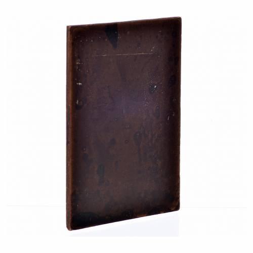 Mini porte en plâtre couleur bois foncé 10x7 s2