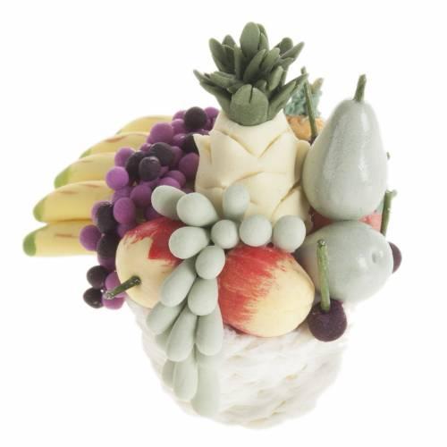 Miniature panier de fruits et banane crèche noel s2