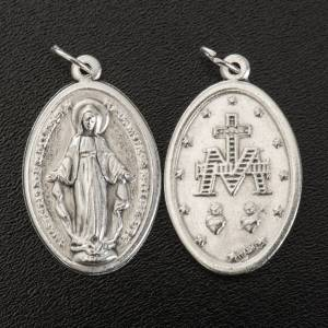 Miraculous Medal, oval in silver metal 30mm s2