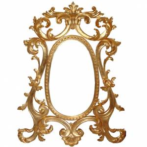 Mirror, hand carved with gold leaf, baroque style 130x80cm s1