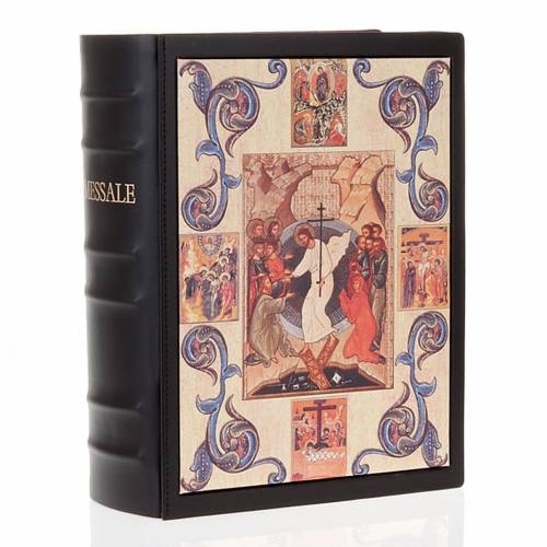 Missal cover in real leather, Resurrection s1