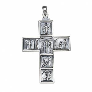 Molina cross for the neck, 6.3x4.5cm in sterling silver s1