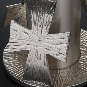 Monstrance throne, silver base for monstrance with cross s5