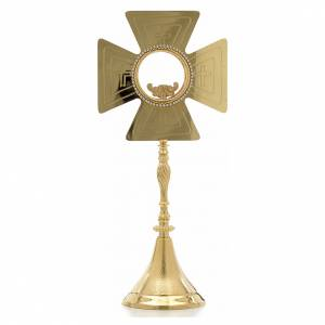 Monstrance with crosses, height 44cm 8cm display case s1