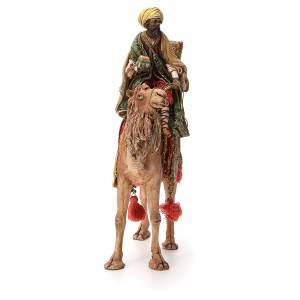 Moor Wise Man with small chest on camel 18cm Angela Tripi s4