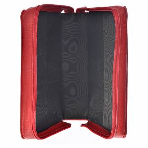 Morning and Evening Prayer cover in red leather s3