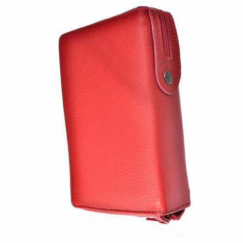 Morning and Evening Prayer cover red leather, image of Our Lady of Kiko s2