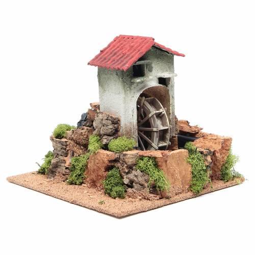 Moulin à eau crèche 23x25x25 cm s3