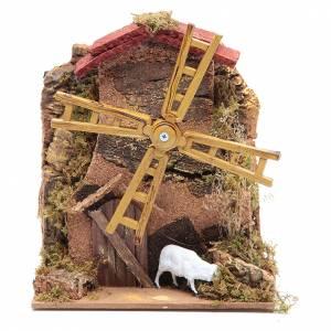 Moulins en miniature: Moulin à vent électrique pour crèche 15x10