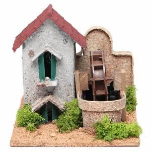 Moulins en miniature: Moulin eau crèche 16x25x17 cm