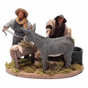 Neapolitan Nativity Scene: Moving farrier with farmers 12 cm for Neapolitan nativity scene