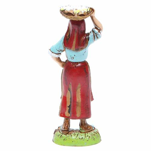 Mujer con cesta en la cabeza 10 cm Moranduzzo estilo clásico s2