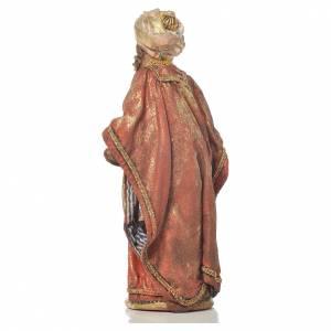 Mulatto Wise Man in terracotta, 13cm by Angela Tripi s3