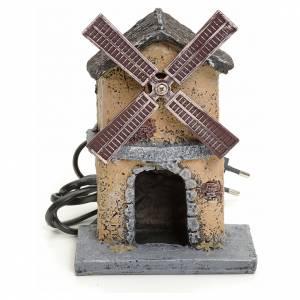 Mulini per Presepi: Mulino a vento in resina per presepe 16x11x6