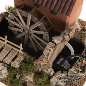 Mulini per Presepi: Mulino ad acqua presepe con casetta 24x29x29