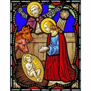 Natividad. Pegatina para vidrios s1