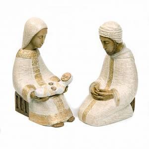 Pesebre Monasterio de Belén: Natividad, Virgen campesina grande blanca