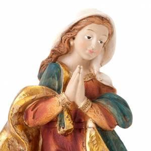 Natività Sacra Famiglia colorata 28 cm s4