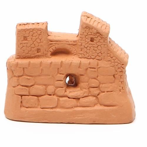 Natività terracotta naturale 6x7x4 cm s4