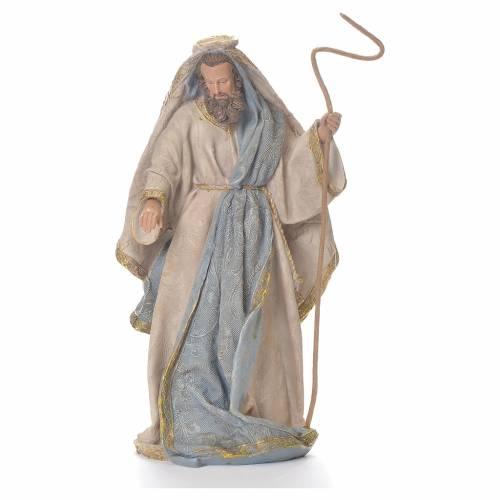 Nativité 33 cm résine vêtements beiges s3