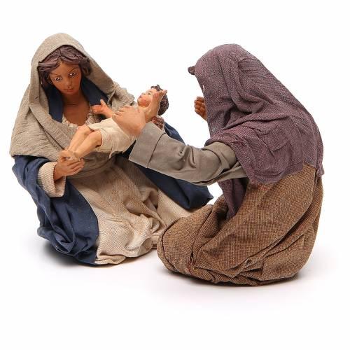Nativité assise 24 cm crèche napolitaine s2