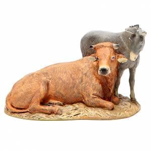 Nativité boeuf âne résine peinte 12 cm gamme économique Landi s4