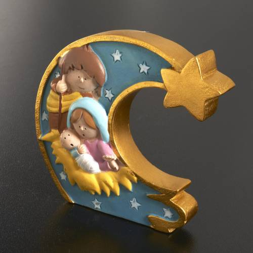 Nativité lune résine colorée s2