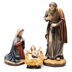Nativity 60cm colored fiberglass Val Gardena s1