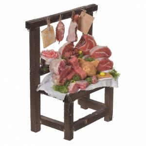 Nativity accessory, butcher's stall in wax 22x16.5x8cm s3