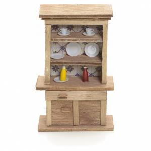 Home accessories miniatures: Nativity accessory, cupboard with plates and accessories